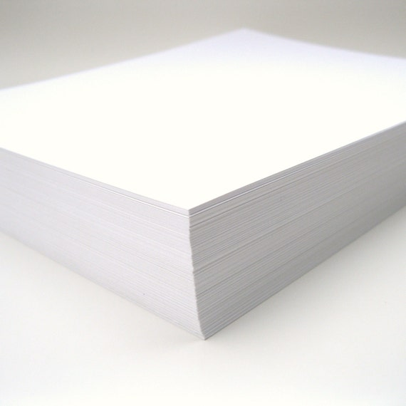Cardstock Full Sheets in Smooth Wedding White Set of 30 Wedding Invitation Scrapbook Paper DIY Project