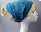 Ear warmer Wool Headband/Winter hat/ Wool hat Turquoise / bordeaux color