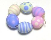 Easter Eggs Pastel Lampwork Beads