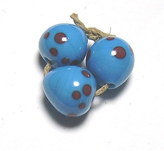 Robins Eggs Lampwork Beads