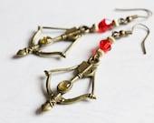 Bow & Arrow Earrings (Red)
