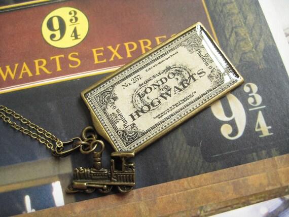 Hogwarts Express Ticket Necklace