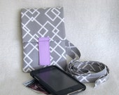 Grey Geometric Cell Phone Pouch / iPhone Case / Smartphone Case