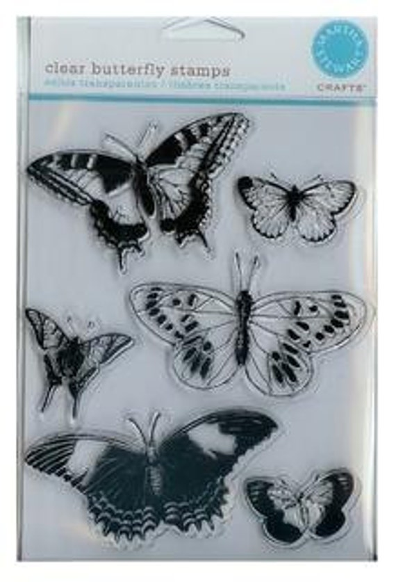 Martha stewart clear butterfly stamps by quillingbee on etsy for Martha stewart butterfly template