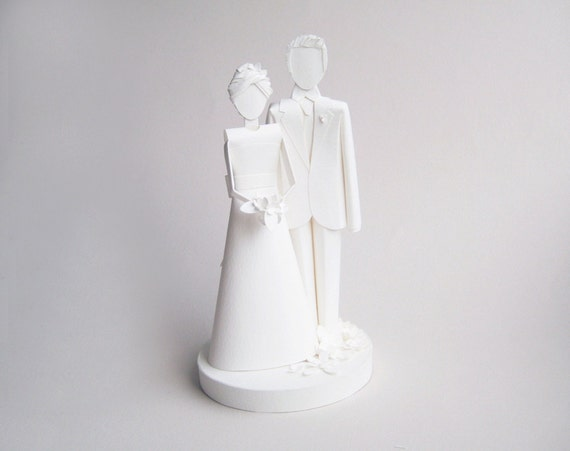 Custom Paper Wedding Cake Topper Deposit for Liberty Woodman
