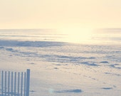 beach photography pale yellow and peach coastal wall art seashore wall decor beach house art ocean sunset picture