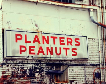 Nashville art industrial wall art vintage Nashville southern art Tennessee photograph Planters Peanuts sign photography home decor