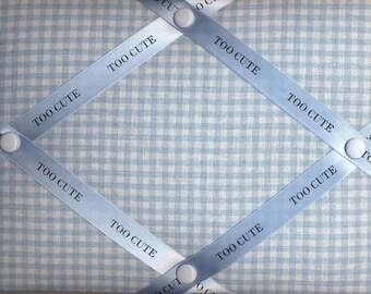 Blue and White Checks Photo Frame