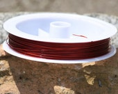 Red Tiger Tail beading wire - 1 roll, 50 meters, 0.38 size