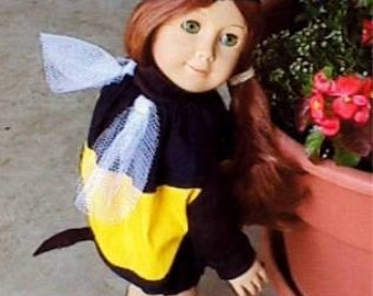Julie Tennant Doll clothes will fit American Girl dolls, 18 inch doll clothes, Halloween bee costume, 18 in doll Halloween bee costume