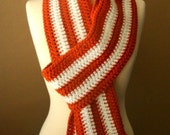 bliss things varsity scarf in burnt orange and white