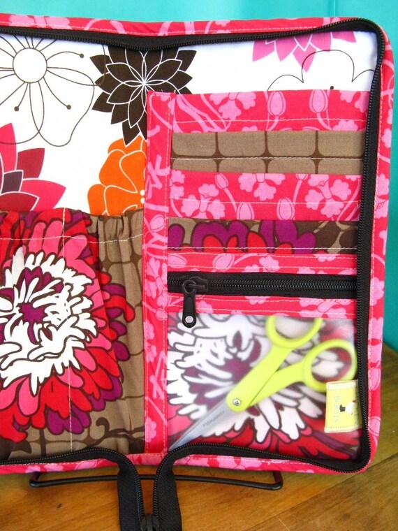 Mini-Knitter Needle Case-Dahlias