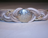 Vintage 1980s Braided Beaded Belt