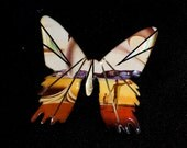 Metallic Art Graphics Butterfly Pin