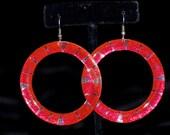 Pink Metallic Hoop Earrin...