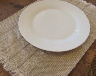 Rustic Placemats, French Country Cottage Farmhouse Decor, Beach Chic Home Decor, Wabi Sabi Hand Woven Natural Linen Hemp Stripe Placemats