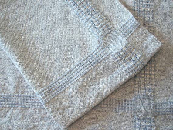 Rustic French Country Kitchen Towel, Farmhouse Decor Dish Towel, Coastal Beach Cottage Decor Cooking Gift, Hand Woven Blue Cotton Dish Cloth