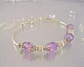 Crystal Birthstone Bracelet, Bridal Bridesmaids Bracelet,   Swarovski Bridal Jewelry, Birthday Bracelet Cuff, Swarovski Crystal  Bracelet