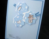 Welcome Baby Boy Handmade Card  Sweet Doilies