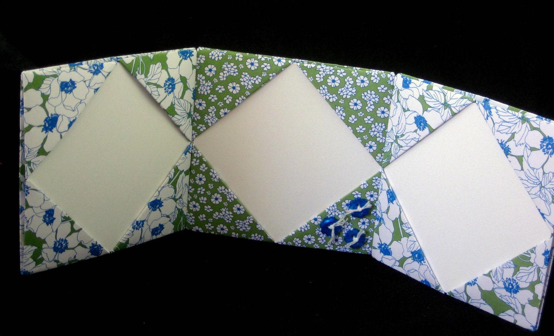 4x4 origami photo frames handmade triple by papercraftlady