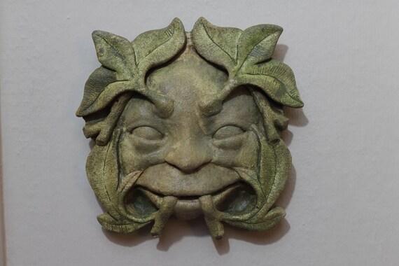 Froud  Pixie Green man Sculpture Wall Hanging  Faerie Woodland  Forest Creature