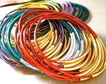 Wholesale , Leather Bangles , 10 Sets , Leather Bracelets , You Choose , 50% Off , Trendy , Great Gift , Bangle Bracelets , Amy Fine Design