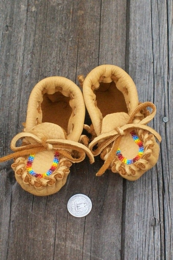 beaded baby moccasins leather baby moccasins infant
