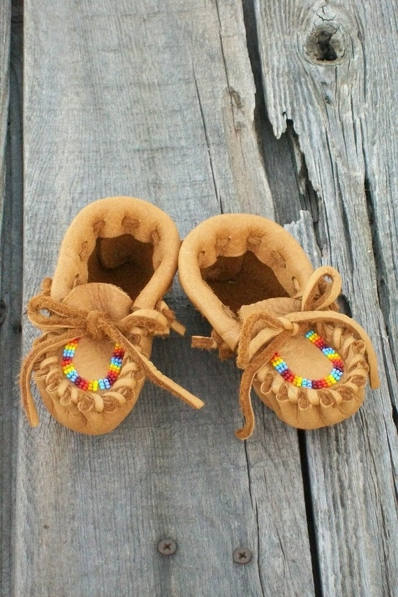 handmade baby moccasins beaded baby moccasins leather baby