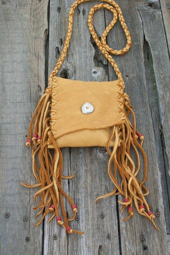 Crossbody Bag Fringed Leather Handbag Fringed By Thunderrose