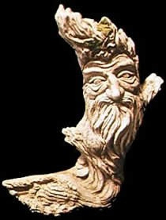 Lord Of The Wood Greenman Statue Celtic Pagan Wicca Tree Spirit Fantasy Forest Man Face Renaissance Medieval Folklore Home Garden Decor