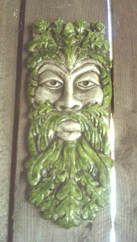 Items similar to long greenman gothic wall plaque celtic for Irish decorations for home