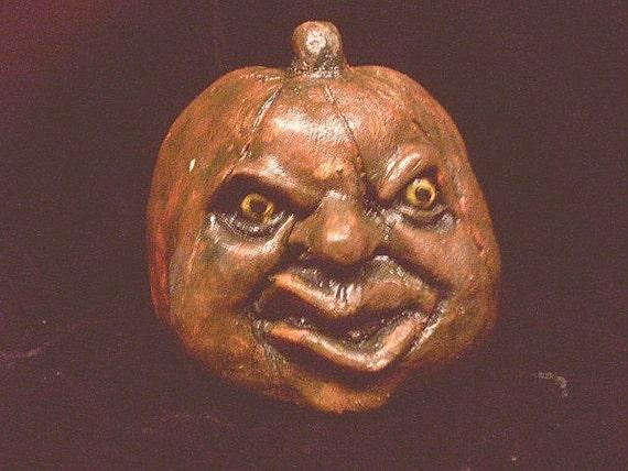 Halloween Pumpkin Head Gothic Pumpkin Of Doom Horror Prop Creepy Macabre Statue Spooky Home Garden Strange Weird Cemetery Decor
