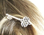 2pcs Skeleton Key Wedding Hair Pins - Alice in Wonderland Gift - Decorative Bobby Pins - Silver Hair Clips