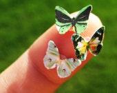 Wedding Party Bridesmaid Butterfly Eye Decals - Woodland Wedding Custom Colors