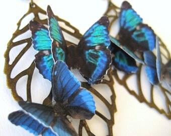 Large Dangle Earrings - Aspen Leaf Jewelry - Bronze Leaf Earrings - Unique Earrings