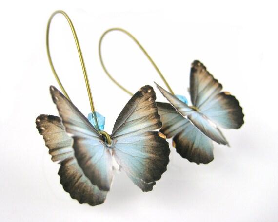 Butterfly Wing Earrings - Boho Chic Earrings - Origami Earrings - Butterfly Earrings For Women - Nature Lover Gift - Unique Earrings For Her