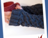 Cable Knit Fingerless Gloves - Fingerless Mitts / Arm Warmers / Wrist Warmers