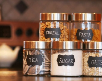 Chalkboard Vinyl Labels (small) - organize your kitchen, pantry & home