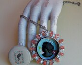 Cameo Appearances - Upcycled Locket Necklace - FREE US shipping