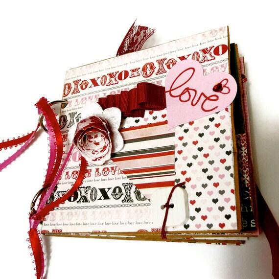Paper Bag Photo Album/Scrapbook/FREE U.S. SHIPPING/Let Love Bloom