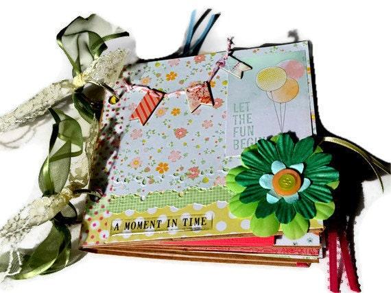 Paper Bag Photo Album/FREE U.S. SHIPPING/ Let The Fun Begin