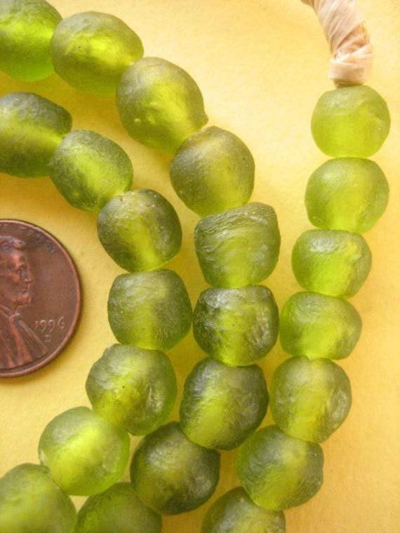 Olive Ghana Glass Beads