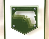MULE KICK - Call of Duty Black Ops - Zombie Perk - Limited Edition - paint on plexiglass - Forest Green & White - gun