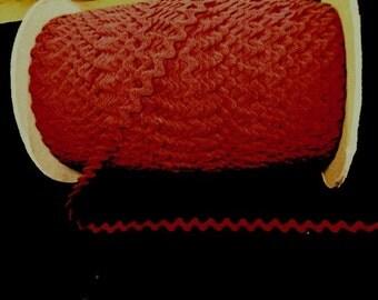"15 yards 3/8"" width ( 10 mm ) cotton Red cherry medium rick rack trim"