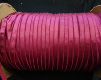 "3 yards 3/8"" wide plush back Fuchsia Satin elastic trim"