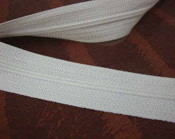 "3 yards heavy white zipper 1 1/4"" Wide by Yard Including Zipper Tab Size No.5"