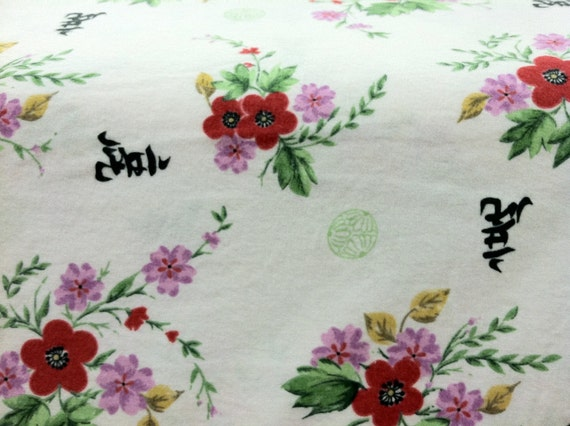 One Yard Cotton Flannel Prints Chinese Characters By