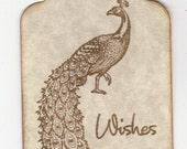 100 Wedding Wish Tags Wedding Tags - Peacock Wishes For Wishing Tree Vintage Hang Tags Labels