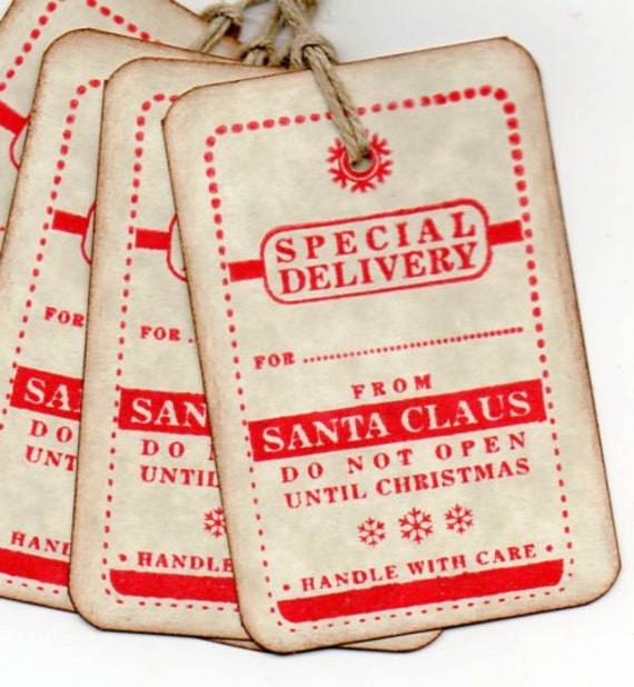 Christmas Gift Tags - Special Delivery From Santa Christmas Tags ...