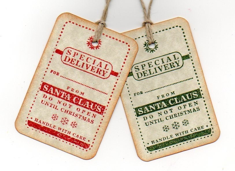 Christmas Gift Tags Special Delivery From Santa by luvs2create2